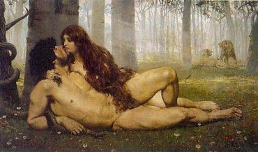 Mito de la Prohibición del Conocimiento, Adán y Eva