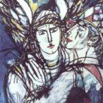 Pintura El Toque del Angel, German Tessarolo