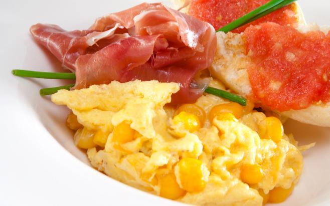 Huevos Revueltos con Mazorca-recetas