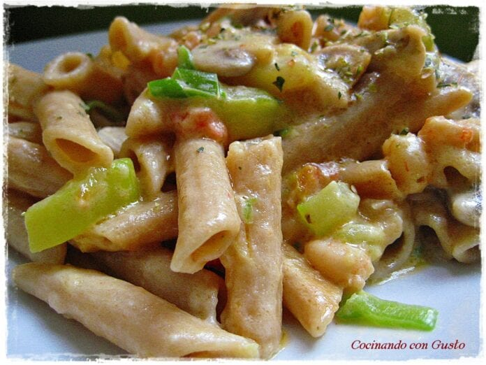 Pasta Vegetariana-recetas