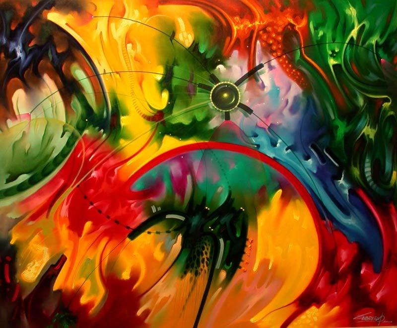 Pintura abstracta arte abstracto historia del arte - Pinturas colores del mundo bruguer ...