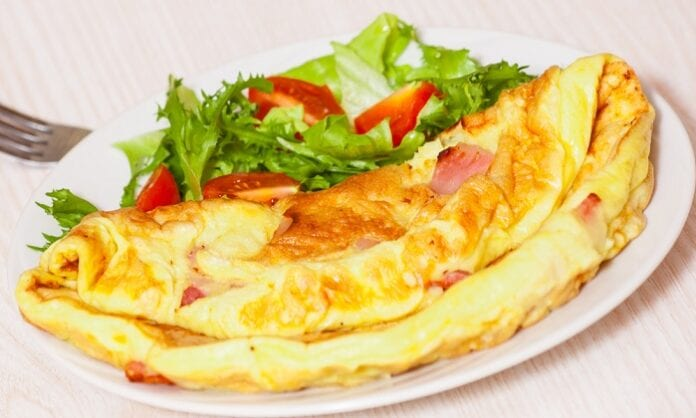 tortilla de jamón francesa