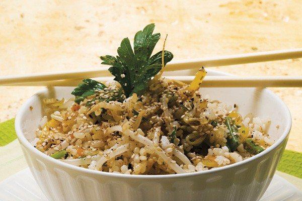 Wok de Arroz, Verduras y Tofu