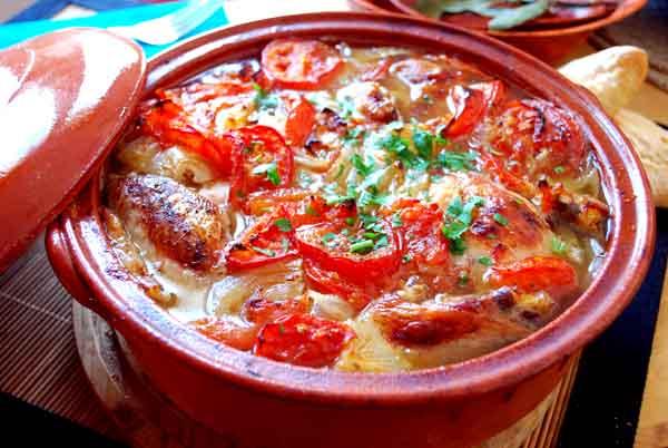 Cazuela de Tomates y Puerros