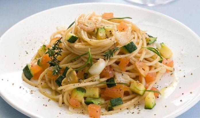 Spaguettis con Verduras