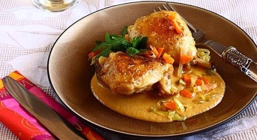 Muslos de Pollo con Crema y Brandy