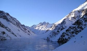 Paisaje en Portillo-Chile