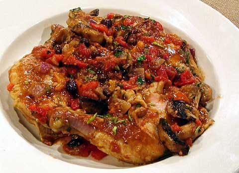 Pollo al Estilo Mediterraneo-recetas