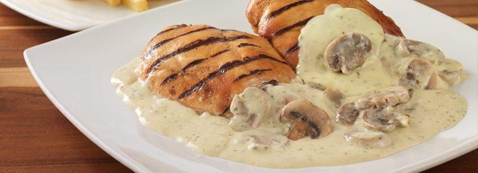 Pollo con Crema de Champinones-recetas