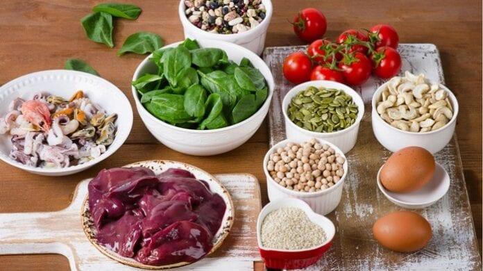 alimentos con hierro