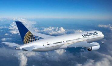 avion continental- Aerolineas Internacionales