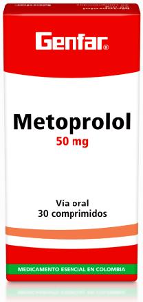 Metoprolol Tabletas 50mg - Genfar
