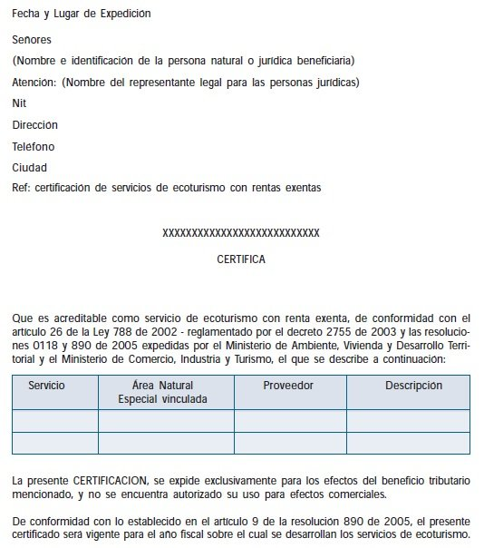 Estructura de Certificación - Ecoturismo