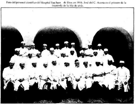 Foto del personal científico hospital San Juan de Dios