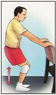 Cuclilla parcial, con silla