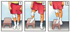 Suba un escalón, lateral - Ejercicios para la rodilla