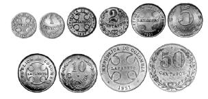 Última serie de monedas (1926 – 1930)