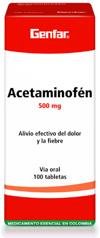Acetaminofén Tabletas - Genfar