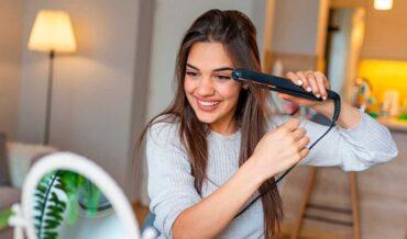 Cuidado del cabello con plancha