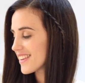 Trenza cascada peinado