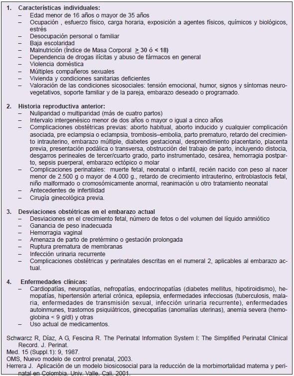 examenes de control prenatal en colombia