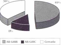 Distibucion porcentual de las fracturas