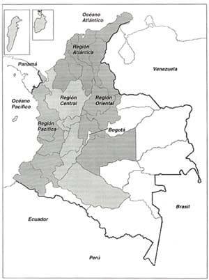 Mapa de Colombia: geografía y regiones