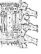 Vista esquemática anterolateral columna torácica y lumbar