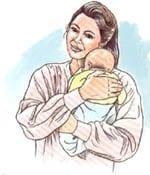 El bebé de un mes
