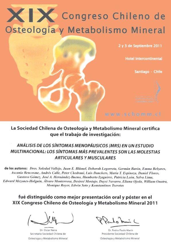 Congreso chileno de osteología y metabolismo