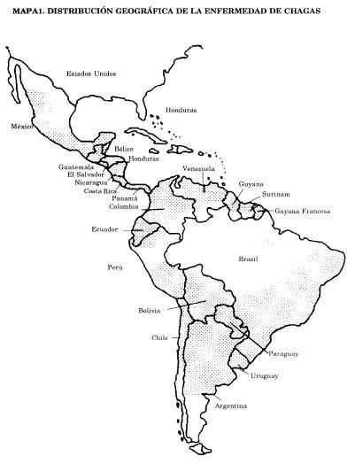 Distribución enfermedades de Chagas