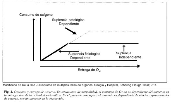 Consumo y entrega de oxígeno