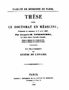 Tesis de grado presentada a la Facultad de Medicina de París