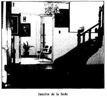 Interior de la sede