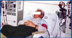 Paciente durante hemodiálisis