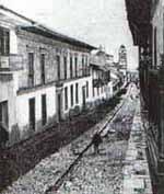 Calle típica de Santafé