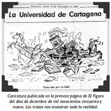 Caricatura publicada en la primera página de El Fígaro