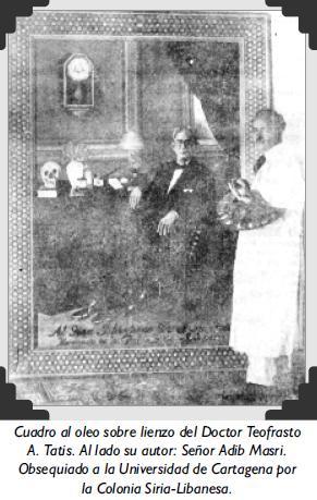 Cuadro al oleo sobre lienzo del Doctor Teofrasto