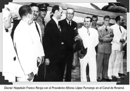 Doctor Napoleón Franco Pareja con el Presidente Alfonso López