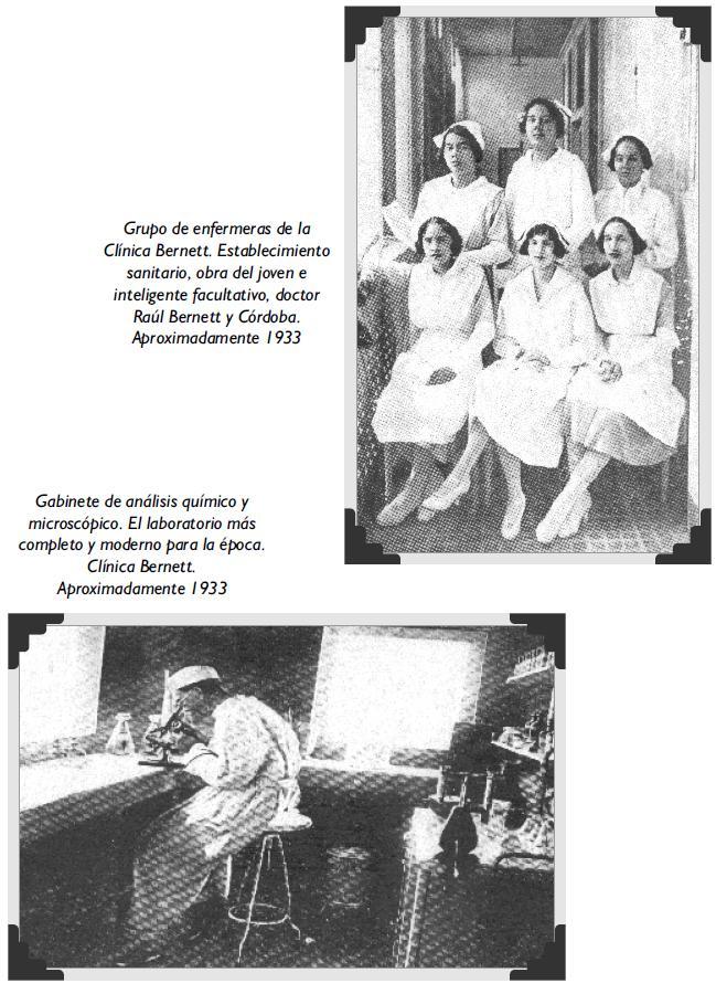 Grupo de enfermeras y Gabinete de análisis químico