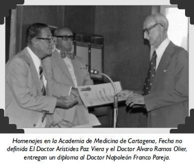 Homenajes en la Academia de Medicina de Cartagena
