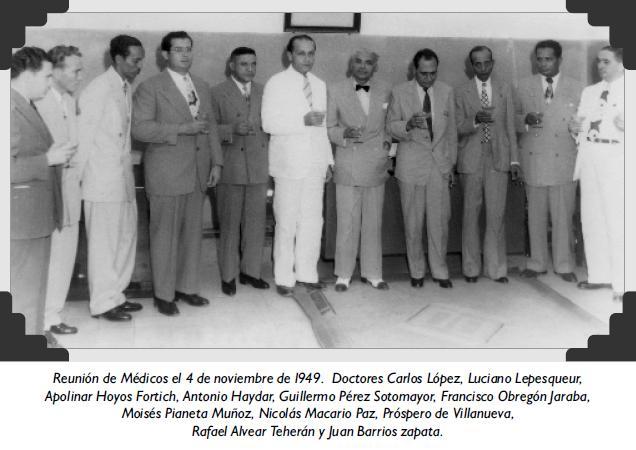 Reunión de Médicos el 4 de noviembre de l949