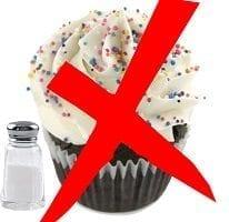 prohibido dulces sal