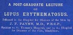 Facsímil del artículo de J.F. Payne en 1894