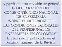 Declaración del consejo técnico nacional de enfermería