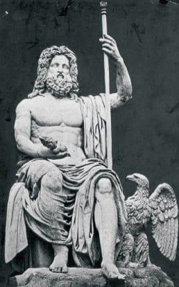 Dios griego Zeus y para los romanos Júpiter