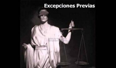Excepciones previas