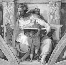 Profeta Daniel de Miguel Angel en la Capilla Sixtina