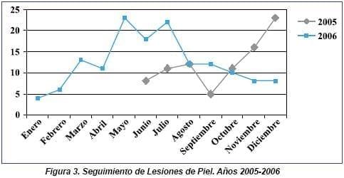 Seguimiento de Lesiones de Piel 2005 - 2006