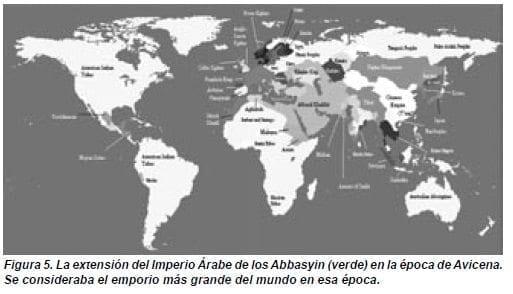 La extensión del Imperio Árabe de los Abbasyin